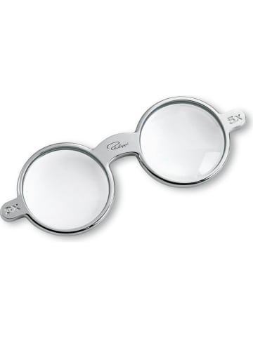 """Philippi Lupe """"Glasses"""" in Silber - (B)13 x (H)1 x (T)5 cm"""