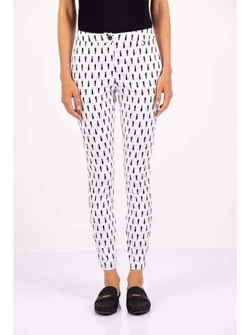 Mexx Spodnie w kolorze biało-czarnym