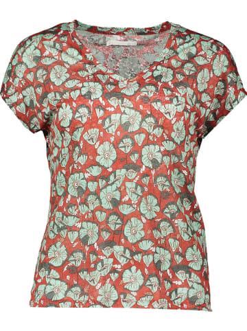 Mexx Linnen shirt rood/mintgroen