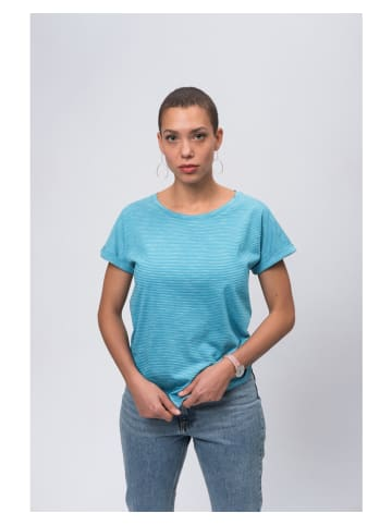 Recolution Shirt turquoise/wit