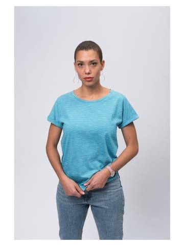 Recolution Shirt in Türkis/ Weiß
