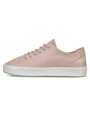 """Ecco Skórzane sneakersy """"Soft 8"""" w kolorze jasnoróżowym"""