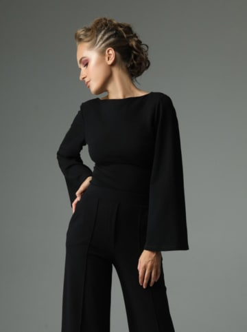 Madnezz Bluzka w kolorze czarnym