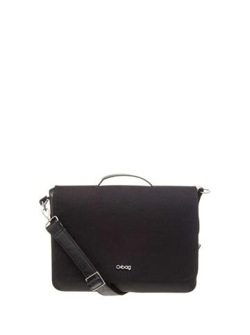 """O Bag Schoudertas """"O Folder"""" zwart - (B)40 x (H)30 x (D)11 cm"""
