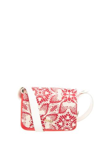 "O Bag Schoudertas ""O Pocket Micro"" rood/wit - (B)19 x (H)13 x (D)6 cm"
