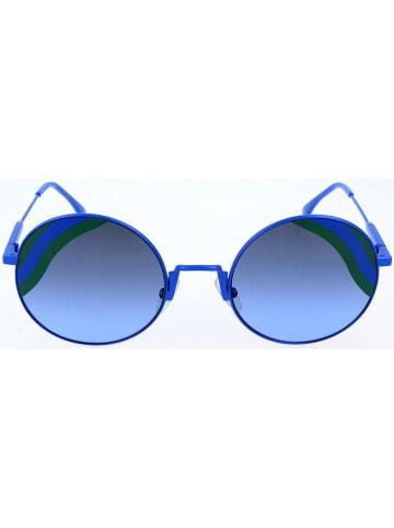 Fendi Okulary przeciwsłoneczne unisex w kolorze niebieskim