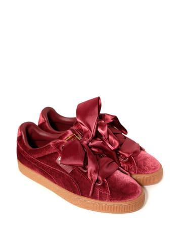 """Puma Sneakersy """"Basker Heart Velvet"""" w kolorze czerwonym"""