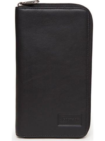 """Eastpak Skórzany portfel """"Tait Rfid"""" w kolorze czarnym - 12 x 22 x 2 cm"""