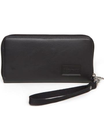 "Eastpak Leren portemonnee ""Kai"" zwart - (B)19 x (H)10 x (D)2,5 cm"