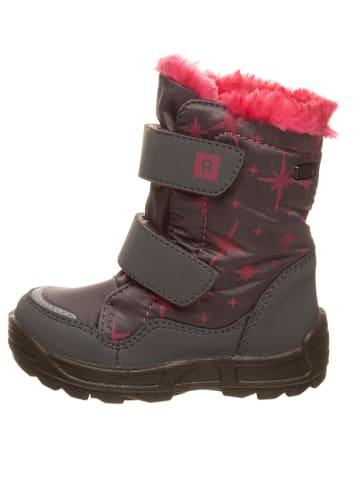 Richter Shoes Botki zimowe w kolorze szaro-różowym