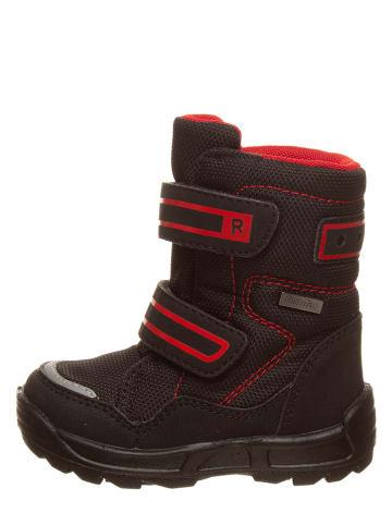 Richter Shoes Botki zimowe w kolorze czarno-czerwonym