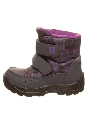 Richter Shoes Botki zimowe w kolorze szaro-jasnoróżowym