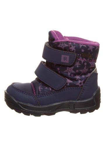 Richter Shoes Botki zimowe w kolorze granatowo-fioletowym