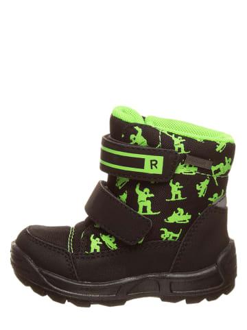 Richter Shoes Botki zimowe w kolorze czarno-jaskrawozielonym