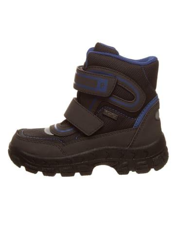 Richter Shoes Botki zimowe w kolorze czarno-granatowym