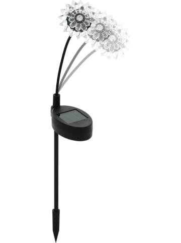 """EGLO Ledsolartuinsteker """"Bloem"""" zwart/transparant - (H)34 cm"""