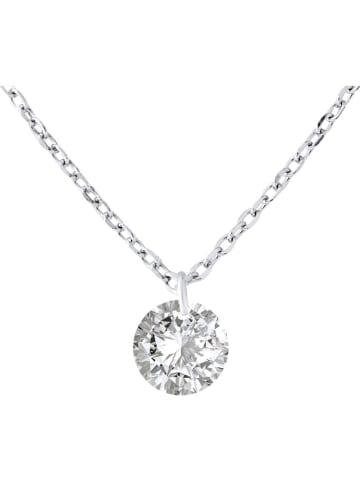 """Wishlist Silber-Halskette """"Solitaire"""" mit Anhänger - (L)42 cm"""