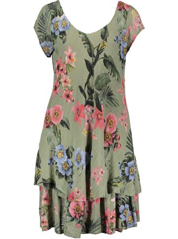 Fashion Factory Sukienka w kolorze khaki