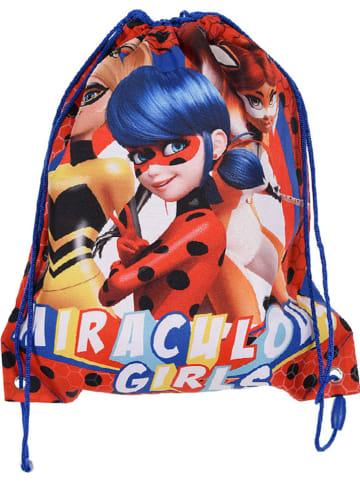 """Miraculous Worek sportowy """"Ladybug"""" w kolorze niebieskim ze wzorem - 31,5 x 37,5 cm"""