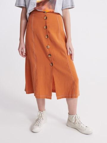 """Superdry Spódnica """"Valley"""" w kolorze pomarańczowym"""
