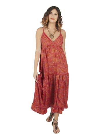 Ipanima Kleid in Rot/ Orange