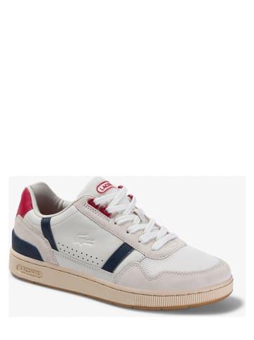 "Lacoste Leren sneakers ""T-Clip"" wit"
