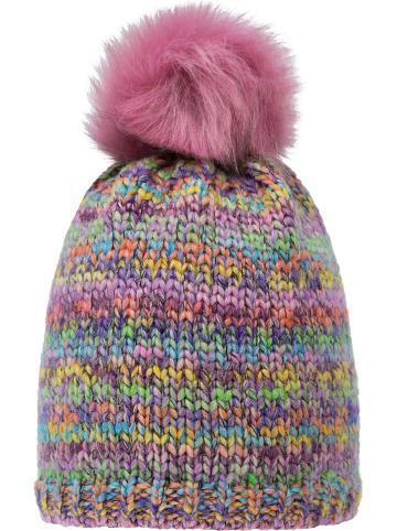 Döll Dzianinowa czapka w kolorze jasnoróżowym ze wzorem
