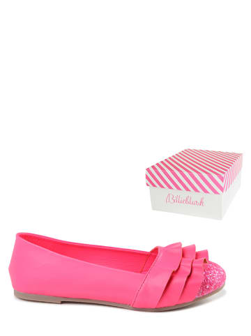 Billieblush Leder-Ballerinas in Pink