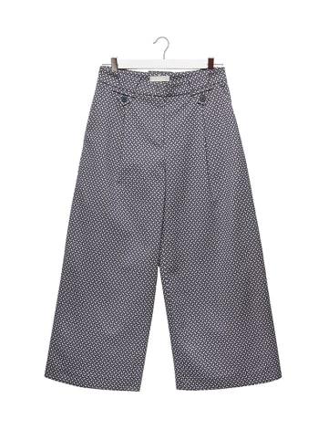 STEFANEL Spodnie w kolorze niebieskim ze wzorem