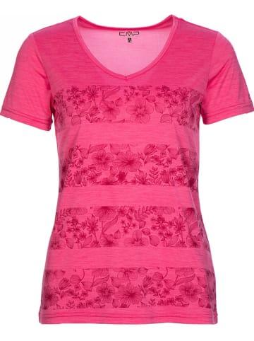 CMP Koszulka sportowa w kolorze różowym