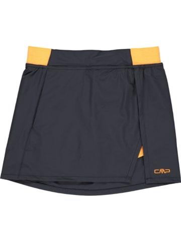 CMP Spódnica sportowa w kolorze granatowo-pomarańczowym