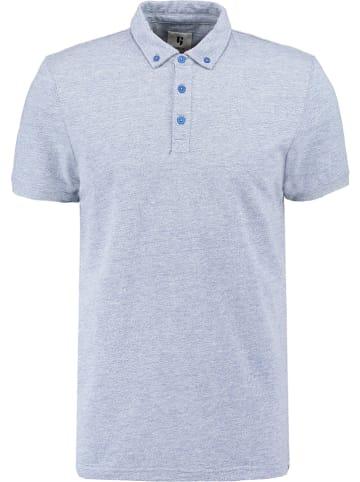 Garcia Koszulka polo w kolorze błękitnym