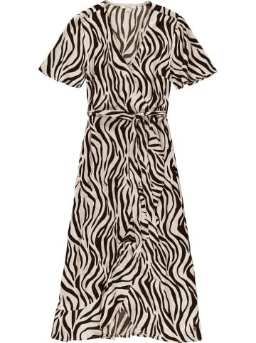 Garcia Sukienka w kolorze beżowo-czarnym