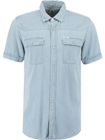 Garcia Koszula dżinsowa - Regular fit - w kolorze błękitnym