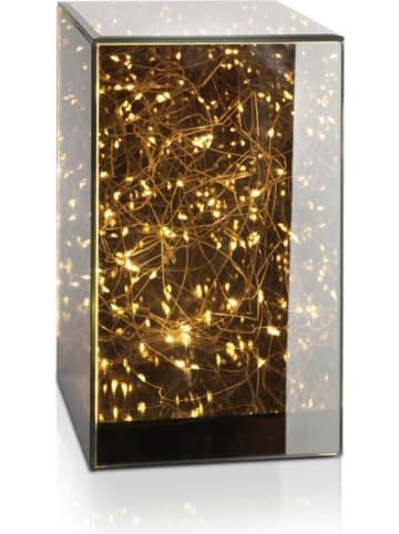 "Lifa Living LED-Leuchtdeko ""Mirror"" in Schwarz - (B)16 x (H)26 x (T)16 cm"