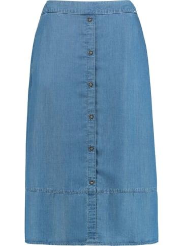 SAMOON Spódnica w kolorze błękitnym