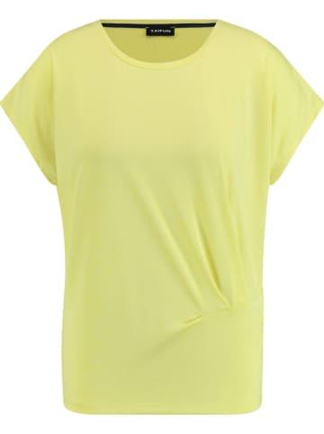 TAIFUN Koszulka w kolorze żółtym
