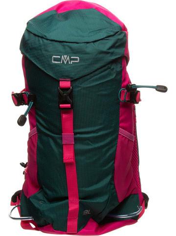 CMP Rucksack in Grün/ Pink - (B)28 x (H)48 x (T)12 cm