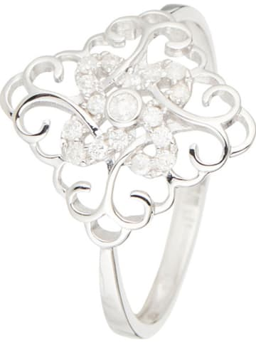 """DIAMOND & CO Złoty pierścionek """"Albay"""" z diamentami"""