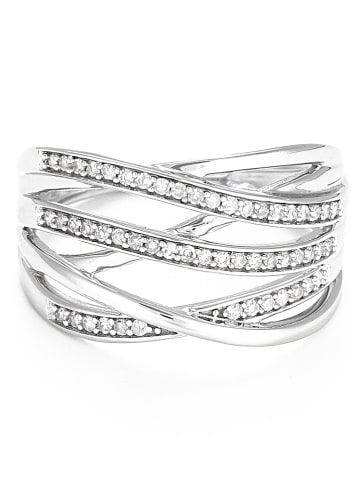 """DIAMOND & CO Złoty pierścionek """"Nos Chemins"""" z diamentami"""