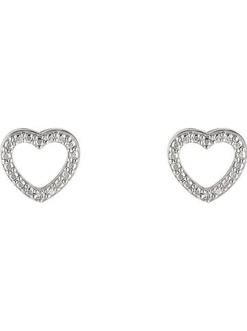 """DIAMOND & CO Witgouden oorstekers """"Cagliari"""" met diamanten"""