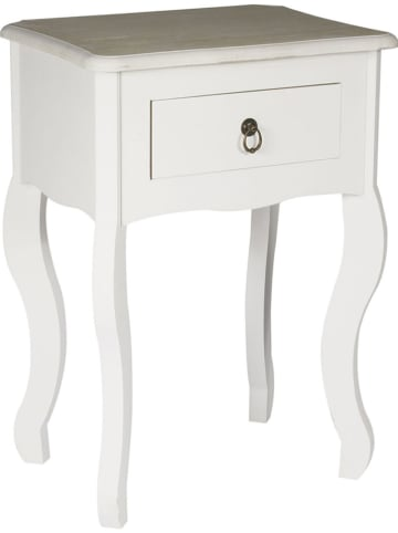 """THE HOME DECO FACTORY Nachtkastje """"Victoria"""" wit - (B)40 x (H)56 x (D)30 cm"""