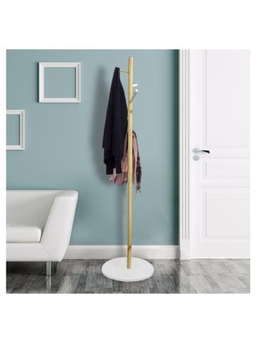 """THE HOME DECO FACTORY Wieszak """"Fiona"""" w kolorze biało-jasnobrązowym - wys.130 x Ø 40 cm"""