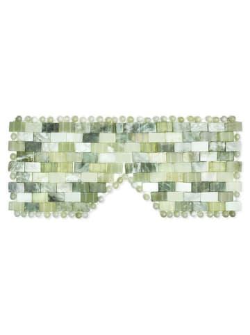 Crystallove Maske mit Jade in Grün - (B)21 x (H)9 x (T)0,50 cm