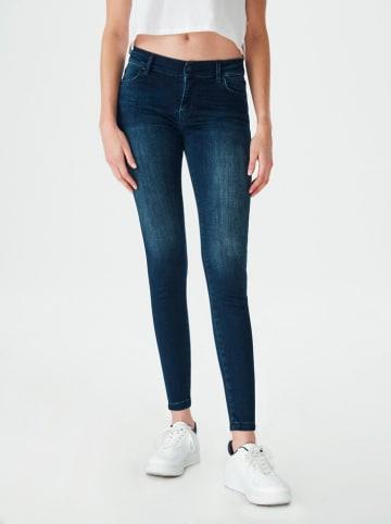 "LTB Spijkerbroek ""Lonia"" - super skinny fit - donkerblauw"