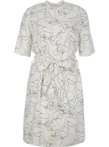 BY MALENE BIRGER Sukienka w kolorze białym