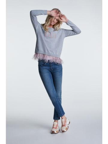 Oui Sweter w kolorze jasnoszarym