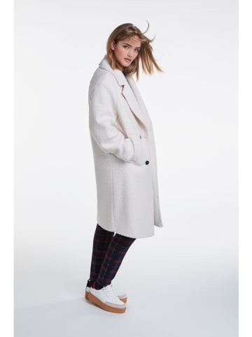 Oui Płaszcz przejściowy w kolorze kremowym