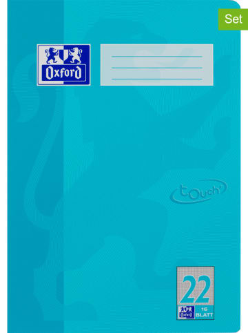 "Oxford 10er-Set: Schulhefte ""Touch - Lineatur 22"" in Hellblau - DIN A4"