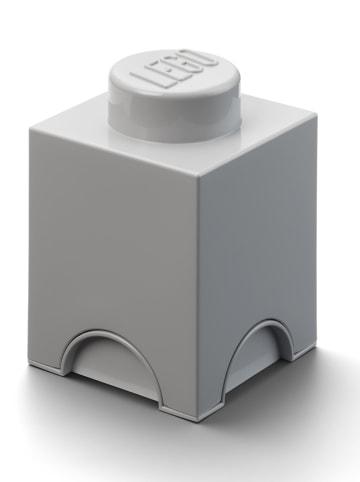"""LEGO Pojemnik """"Brick 1"""" w kolorze szarym - 12,5 x 18 x 12,5 cm"""
